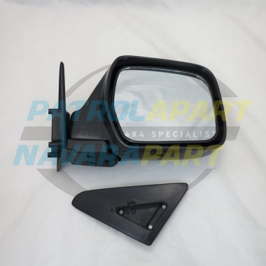 Nissan Navara D22 YD25 DX Right Hand Black Manual Mirror 2008 on