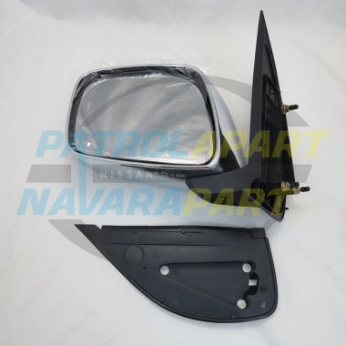 Nissan Navara D40 VSK 4WD left Hand Manual Chrome Mirror 2005-10