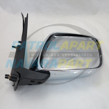Nissan Navara D40 VSK 4WD RightHand Manual Chrome Mirror 2005-10