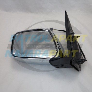 Nissan Navara D40 VSK Left Hand Electric Chrome Mirror 2005-07