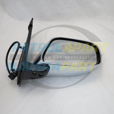 Nissan Navara D40 VSK Right Hand Electric Chrome Mirror 2005-07