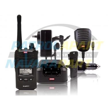 GME TX6160 80 Channel IP67 5W Handheld UHF CB Radio KIT