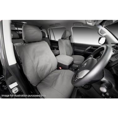 MSA Seat Cover Tradie Nissan Navara D40 STX Dual Cab 14oz Front Row