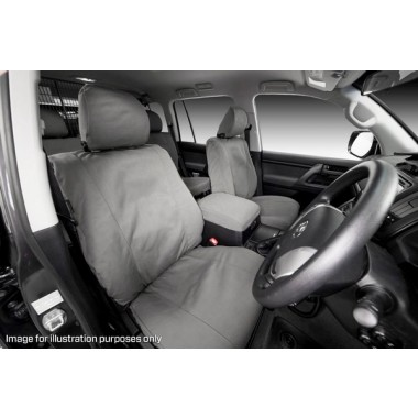 MSA Front Seat Cover Tradie for Nissan Navara D40 03/12 on with Electric Seats